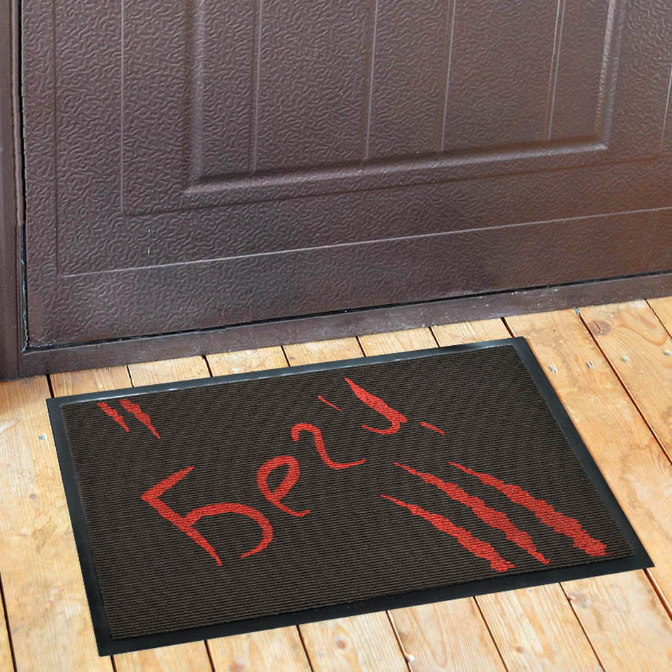 Прикольный коврик для входной двери своими руками
