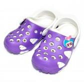 """Шлепанцы-галоши детские """"Purple & White"""""""