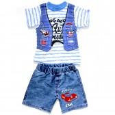 """Комплект для мальчика: джинсовые шорты и футболка """"Speed Way"""""""