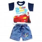 """Комплект для мальчика: джинсовые шорты и футболка """"Grand Ride"""""""