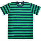 """Футболка """"Широкие полосы"""" (green)"""