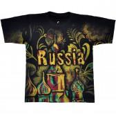 "Футболка ""Россия, Москва"" (Хохлома)"