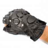 Перчатки без пальцев из натульной кожи