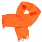 """Шарф детский """"Маленькие пумпошки"""" (оранжевый)"""
