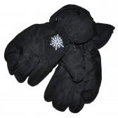 """Перчатки женские """"Снежинка"""" (black)"""