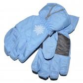"""Перчатки женские """"Снежинка"""" (l-blue)"""