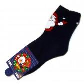 "Носки ""Дед Мороз"" (d-blue)"