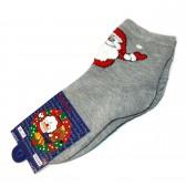 """Носки """"Дед Мороз"""" (grey)"""