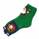 """Носки """"Дед Мороз"""" (green)"""