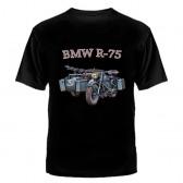 "Футболка с рисунком ""BMW R-75"""