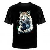 "Футболка с рисунком ""Тигр"" (белый)"