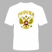 """Футболка с рисунком """"Россия"""" (белый фон)"""