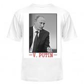 "Футболка с рисунком ""V. Putin"" (white)"