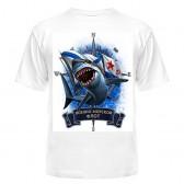 "Футболка с рисунком ""Морской флот акула"""