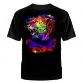 """Футболка с рисунком """"Леопард разноцветный"""""""