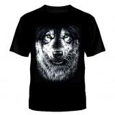 """Футболка с рисунком """"Мудрый волк"""""""