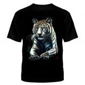 "Футболка с рисунком ""Белый тигр"""