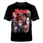 """Футболка с рисунком """"Slipknot маски"""""""