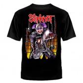 "Футболка с рисунком ""Slipknot с пилой"""
