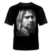 """Футболка с рисунком """"Nirvana"""" (портрет)"""