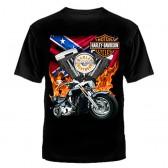 "Футболка с рисунком ""Motor Harley Davidson мотоцикл"""