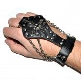 Слейв-браслет кожаный -08