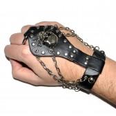 Слейв-браслет кожаный -10
