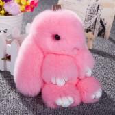 """Меховой брелок """"Зайчик"""" (кролик) 18 см на сумку -10"""