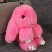 """Меховой брелок """"Зайчик"""" (кролик) 18 см на сумку -20"""