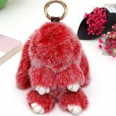 """Меховой брелок """"Зайчик"""" (кролик) 18 см на сумку -23"""