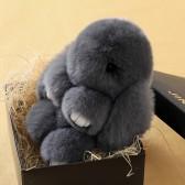 """Меховой брелок """"Зайчик"""" (кролик) 18 см на сумку -02"""