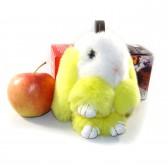 """Меховой брелок """"Зайчик"""" (кролик) 18 см на сумку -28"""