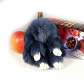 """Меховой брелок """"Зайчик"""" (кролик) 13 см на сумку -02"""