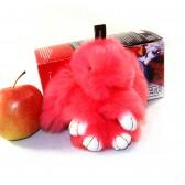 """Меховой брелок """"Зайчик"""" (кролик) 13 см на сумку -07"""