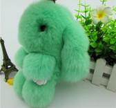"""Меховой брелок """"Зайчик"""" (кролик) 18 см на сумку -30"""