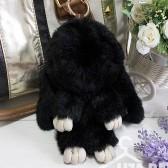 """Меховой брелок """"Зайчик"""" (кролик) 18 см на сумку -32"""