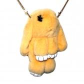 """Меховая сумка рюкзак """"Кролик"""" (светло-бежевый)"""