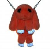 """Меховая сумка рюкзак """"Кролик"""" (персиковый)"""