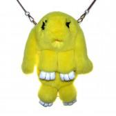 """Меховая сумка рюкзак """"Кролик"""" (желтый)"""
