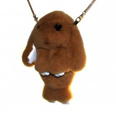 """Меховая сумка рюкзак """"Кролик"""" (светло-коричневый)"""