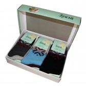 Набор женских носков подарочный, 12 пар (ангора+шерсть)
