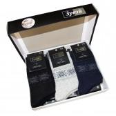 Набор мужских носков подарочный, 12 пар (ангора+шерсть)