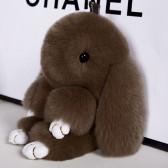 """Меховой брелок """"Зайчик"""" (кролик) 18 см на сумку -44"""