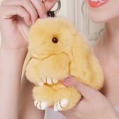 """Меховой брелок """"Зайчик"""" (кролик) 18 см на сумку -46"""