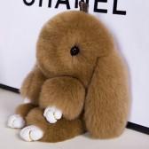 """Меховой брелок """"Зайчик"""" (кролик) 18 см на сумку -41"""
