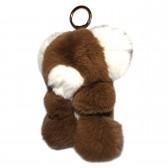 """Меховой брелок """"Мишка"""" 18 см на сумку -02"""