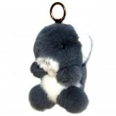 """Меховой брелок """"Мишка"""" на сумку -07"""