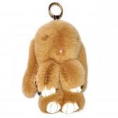 """Меховой брелок """"Зайчик"""" (кролик) 22 см на сумку -02"""
