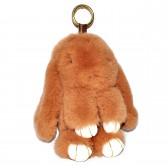 """Меховой брелок """"Зайчик"""" (кролик) 22 см на сумку -03"""
