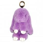 """Меховой брелок """"Зайчик"""" (кролик) 22 см на сумку -08"""
